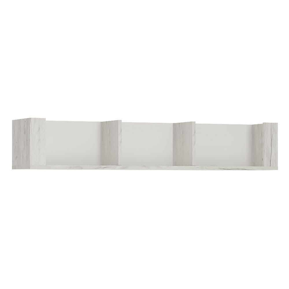 Argon 118.7cm Wall Shelf in White Craft Oak